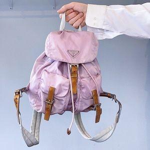 Vintage Pastel Lilac Purple Prada Nylon Backpack
